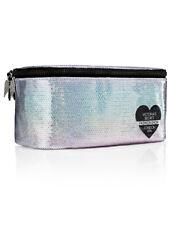 Victoria's Secret Train Case/ Makeup Bag Sequin Silver London 2014 Fashion Show
