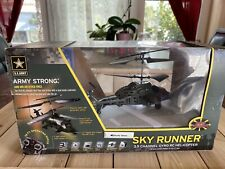 US ARMY Sky Runner 3.5 Channel Gyro RC HELICOPTER New in Box TRL $100