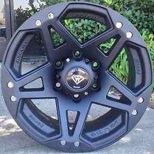 4 ~ 17x8 White Diamond 5x139.7 Truck Wheels WD-5313 Matte Black Wheels -10mm