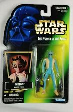 Greedo Star Wars Power of the Force Kenner 1996 Green Card