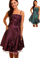 women prom cocktail bridesmaid evening Dress Size 8 10 12 14 New purple teal
