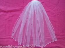 White Hen night Party Veil New Style With Red Heart Sequins Top Seller