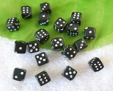 300 black dice plastic beads 6mm C18709