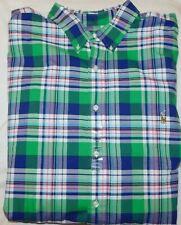 New Men's Polo Ralph Lauren Plaid Button Down Shirt Size Big & Tall 4XB Big