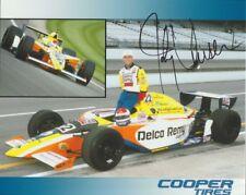 Johnny Unser signed Cooper Tires Oldsmobile SEMA Indy Car blankback postcard