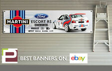 MARTINI FORD ESCORT RS COSWORTH Banner, Auto da Rally, Officina, Garage, Motorsport