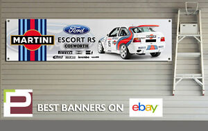 EXTRA LARGE Martini Racing Ford Escort RS Cosworth Banner for Workshop / Garage