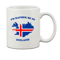 I'd rather be in ICELAND Ceramic Coffee Tea Mug Cup