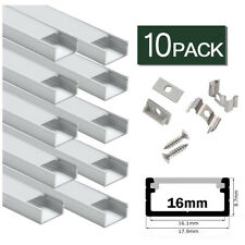 10x1m LED Aluminum Profil mit Abdeckung OPAL, Leiste / Schiene für LED Stripes