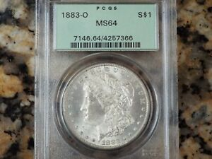 1883-O Morgan Silver Dollar, PCGS MS-64!