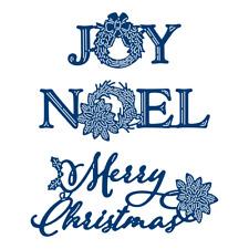 Tattered Lace DECOUPAGE WORDS MERRY CHRISTMAS JOY NOEL cutting dies 509674