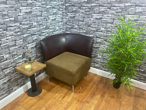 Heavy Duty Contract Quality Brown Faux Leather Corner Hotel Bedroom Chair