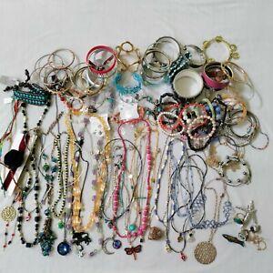 Kids Jewelry Lot 100+ Necklaces Bracelets Rings Play Pretend Dressup Princess