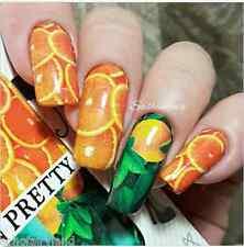 Lemon Orange Nail Art Water Decals Manicure Transfer Stickers Decor BORN PRETTY
