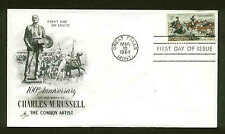US FDC #1243 Artcraft Cachet Great Falls, MT Charles Russell