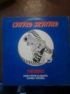 """LYNYRD SKYNYRD FREE BIRD/SWEET ALABAMA/ DOUBLE TROUBLE 12"""" VINYL SINGLE 1976"""