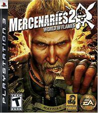 PS3 Mercenaries 2: World In Flames Video Game multiplayer shooter open world II