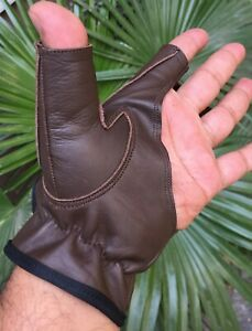 Traditional Bow Shooting Leather Gloves Top quality Gloves 100% Real leather
