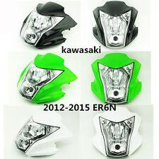 For Kawasaki ER-6N 2012 2013 2014 2015 Motorcycle Motorbike Headlight+Fairing