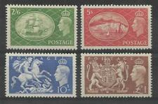 GB. 1951 HIGH VALUES SET (4) VERY LIGHTLY MINT HINGED.  SG. 509 - 512. (595)