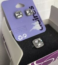 Lia Sophia At Last Ring Size 5 Cushion Cz Becoming Rare Silver Tone Halo Framed