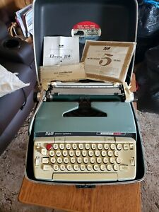 vintage smith corona electra 110 typewriter with paperwork!!
