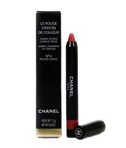 Chanel Le Rouge Crayon De Couleur Jumbo Lip Crayon 4 Rouge Corail 1.2g New Box