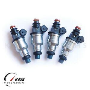 4x 310cc Fuel Injectors for Civic Integra Acura all D B F H K ZC VTEC w/ clips