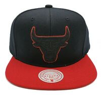 Mitchell & Ness Chicago Bulls Pop Block Black Adjustable Snapback Hat Cap NBA
