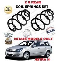 FOR VAUXHALL OPEL ASTRA H ESTATE MODELS 2004-2010 NEW 2 X REAR COIL SPRINGS SET