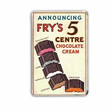 RETRO  FRYS FIVE CENTRE CHOCOLATE BAR ADVERT JUMBO Fridge / Locker Magnet