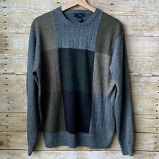 Vintage Grandpa Slouchy Sweater Color Block - M