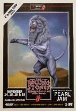 Pearl Jam Concert Poster 1997 Rolling Stones Oakland
