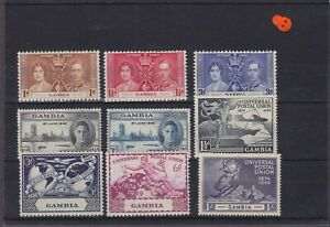 Gambia KGVI Omnibus Issues Mounted Mint Collection
