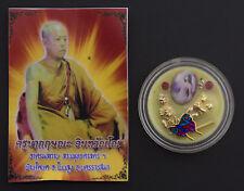 9 tails fox wax baume Amulette thaï Kruba Krissana Charme Amour Talisman 1347