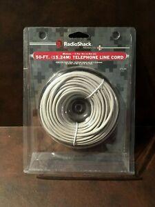 RADIO SHACK 50 FT. (15.24M) TELEPHONE LINE CORD MODULAR.4-PIN (RJ-11/RJ-14)