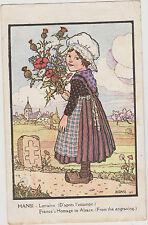 CARTE POSTALE FANTAISIE HANSI/ Lorraine (d'après l'Estampe) N°29 P.J.GALLAY