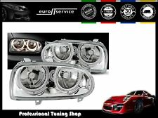 FEUX AVANT PHARES LPVW01 VW GOLF MK III 1991-1993 1994 1995 1996 1997 ANGEL EYES