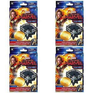 Captain Marvel ONE Mission Patch and ONE Coin Box 4 Boxes