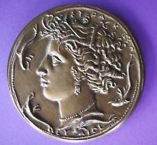 Médaille de table en bronze, Syndicat général de la construction éléctrique