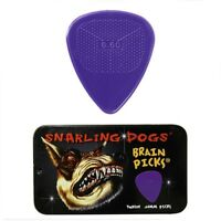 Snarling Dogs Brain Guitar Picks and Tin Box 1 Dozen 12 picks 0.60 Gauge Purple