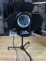 Vintage 1990s The Movie Channel Promo Hollywood Spot Light Shaped Desk Lamp RARE