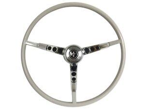 1965-66 Ford Mustang Steering Wheel Kit w/Horn Ring & Spring - White