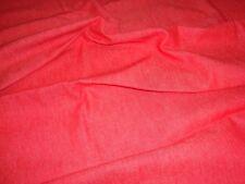 "Red Denim Fabric 1 Yd Lightweight 64"" W Sewing/Crafts/Quilting Brand New"