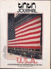 TINTIN JOURNAL BELGE SUPPLEMENT N°  4 de 1976 USA BICENTENAIRE INDEPENDANCE