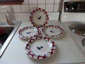 VINTAGE PRINCESS HOUSE ORCHARD MEDLEY 4 LATTICE LUNCHEON/DESSERT PLATES # 263