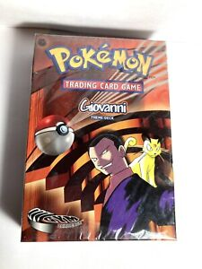 NEW Factory Sealed MINT Giovanni Pokemon Card Gym Challenge Theme Starter Deck