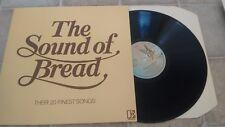 "BREAD THE SOUND OF BREAD THEIR 20 FINEST SONGS UK 1977 ELEKTRA 12"" LP K 52062"