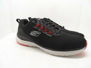 Skechers Men's Ultra Groove Lace Up Athletic Casual Shoe Black/White/Red 12M