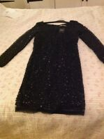 Brand  New With Tags Next Black Sequin Dress Size 8